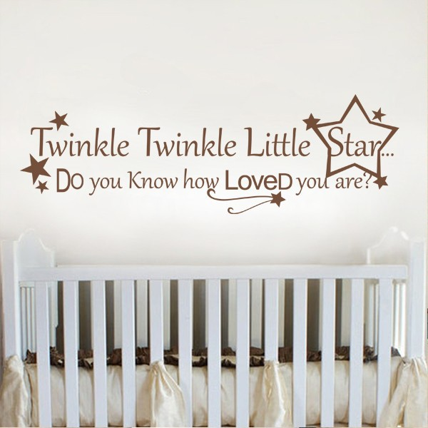 Aliexpress Wall Lettering Le Little Star Baby Nursery Decal Sticker 86 36cm X 27 94cm From Reliable Decals Stickers