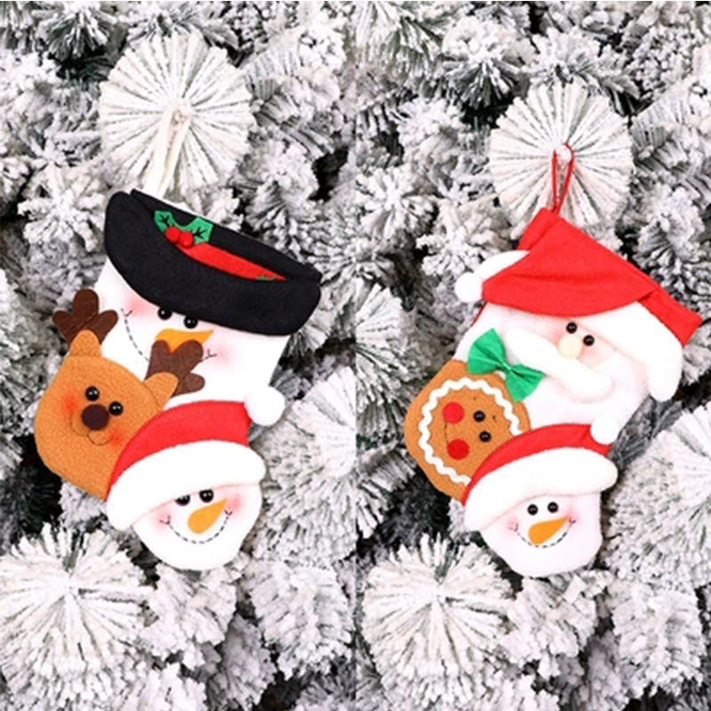 Christmas gifts gift socks Santa Claus snowman socks decorate the background
