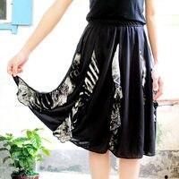 The New Dance Square Dance Costume Eight Skirt Black Lace Skirt Dance Skirt Length 58 Cm