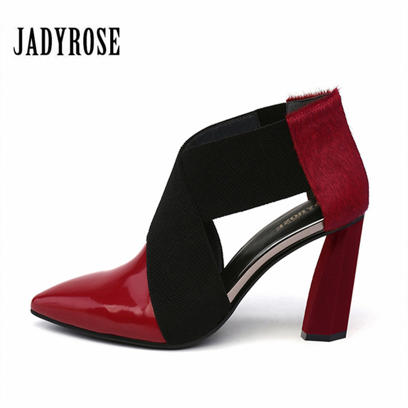 Jady Rose Pointed Toe Women Pumps Horsehair Strange Heel Wedding Dress Shoes Woman Hollow Out High Heels Valentine Shoe Stiletto
