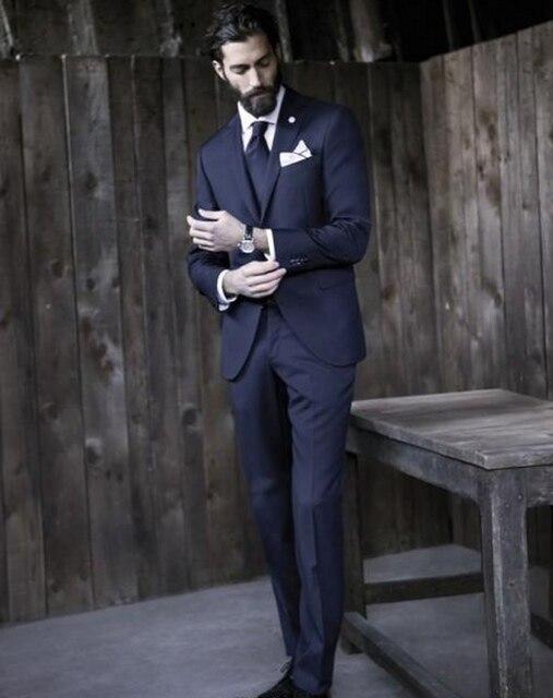 2017 Новая Мода На Заказ Мужчин Костюм Установить Классический Стиль высокое качество Slim Fit Костюмы Жениха Свадьба Мужчины Костюм Специальный платье