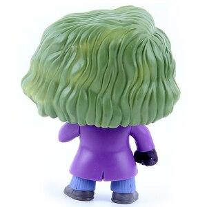 Image 5 - مجسمات شخصيات متحركة من Funko pop 12 سنتيمتر لشخصية الجوكر وباتمان وفارس الظلام الشرير لعبة نماذج PVC للأطفال