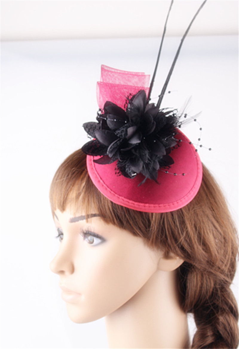 Multi Color Satin Base Fascinator Hair Accessories Silk Flower