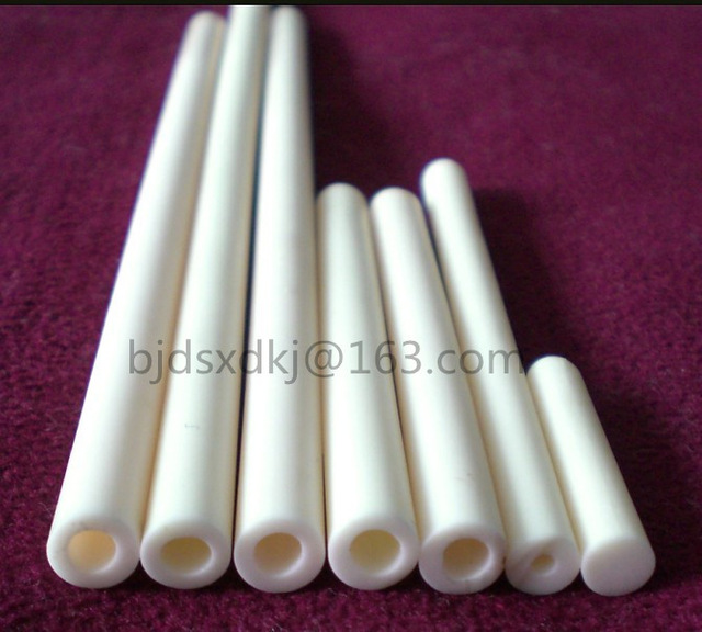 99.5% alumina tube / furnace tube / OD*ID*L=10*7.4*400mm / ceramic tube / vacuum furnace tube 500w ceramic tube resistors 95k ohm wire wound fixed tube resistance