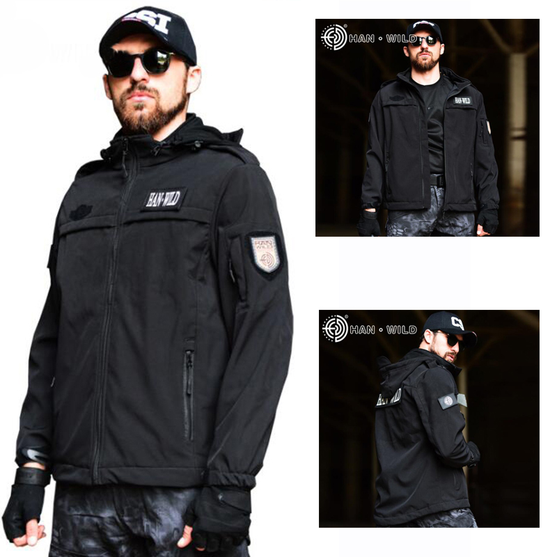 Black Colors Men s Hunting Jacket Outdoor Sport Hiking Coat Military Winter Fleece Jacket Army Tactical