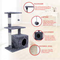 Cat Condos Domestic Delivery Cat Trees Cat Climb Frame Cat Furniture Scratchers Pet Supplies 2 Color Functional Kitten Play Toys