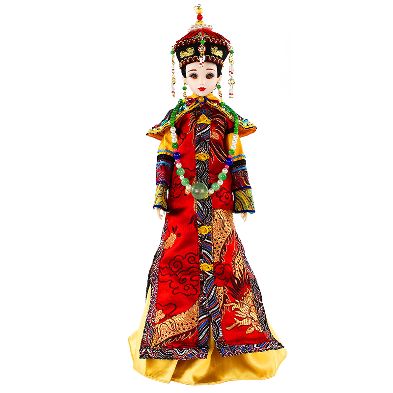 Chinese Qing Dynasty Doll Collectible BJD Dolls Empress Xiaozhuang Series With 3D Reastic Eyes Valentines Day Gifts