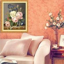 Beautiful Flower 5D Diamond Embroidery Diamond Mosaic Flower Picture Diy Diamond Painting Needlework Canvas Home Decoration Gift