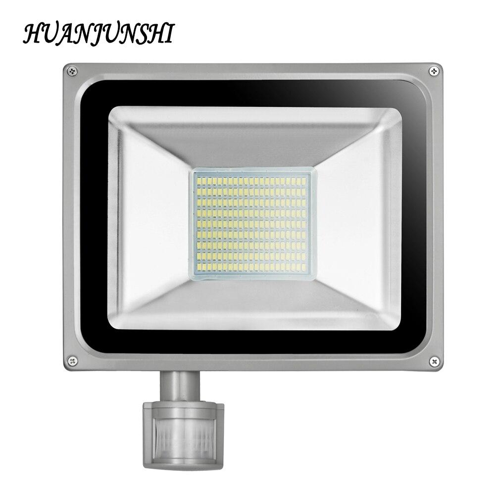 100 W impermeable LED Sensor de movimiento proyector Reflector de la CA 220 V-240 V 11000LM 189LED Reflector Luz de inundación para iluminación al aire libre