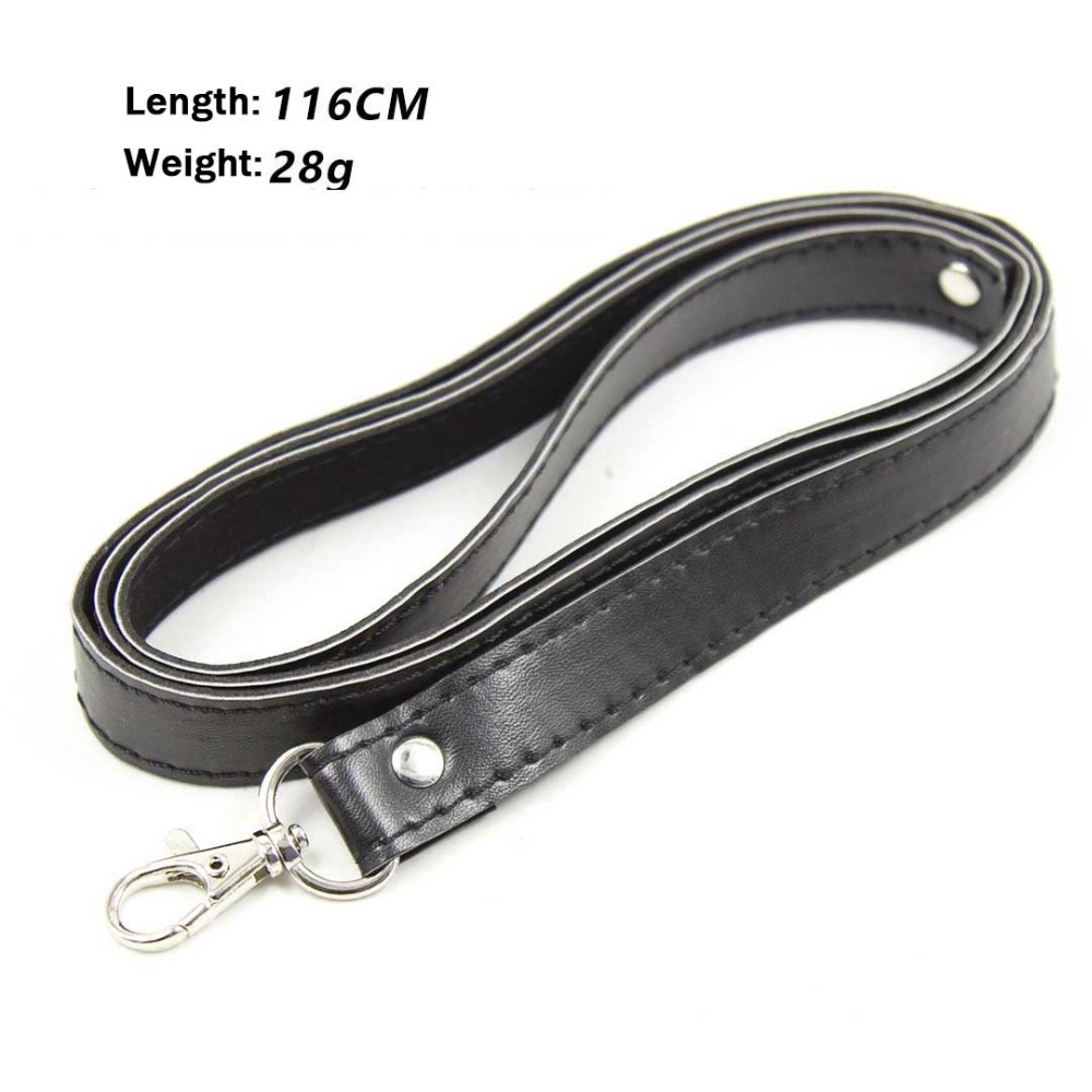 Bondage Sex Collar Leather Drag Chain Adult Game Collars Sex Toys Accessories,Pet Traction Belt  Leashes 116cm Long