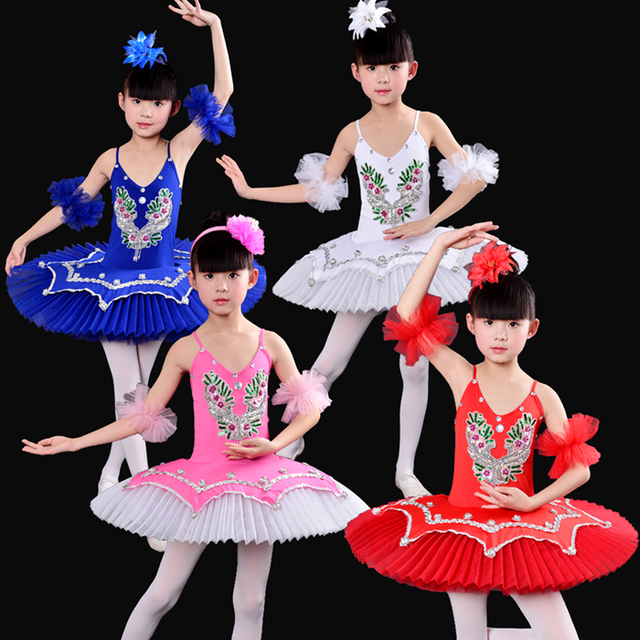 cac4072a2 professional tutu for competition ballet dress gymnastic dresses girls red children  kids leotard white swan lake ballet costumes