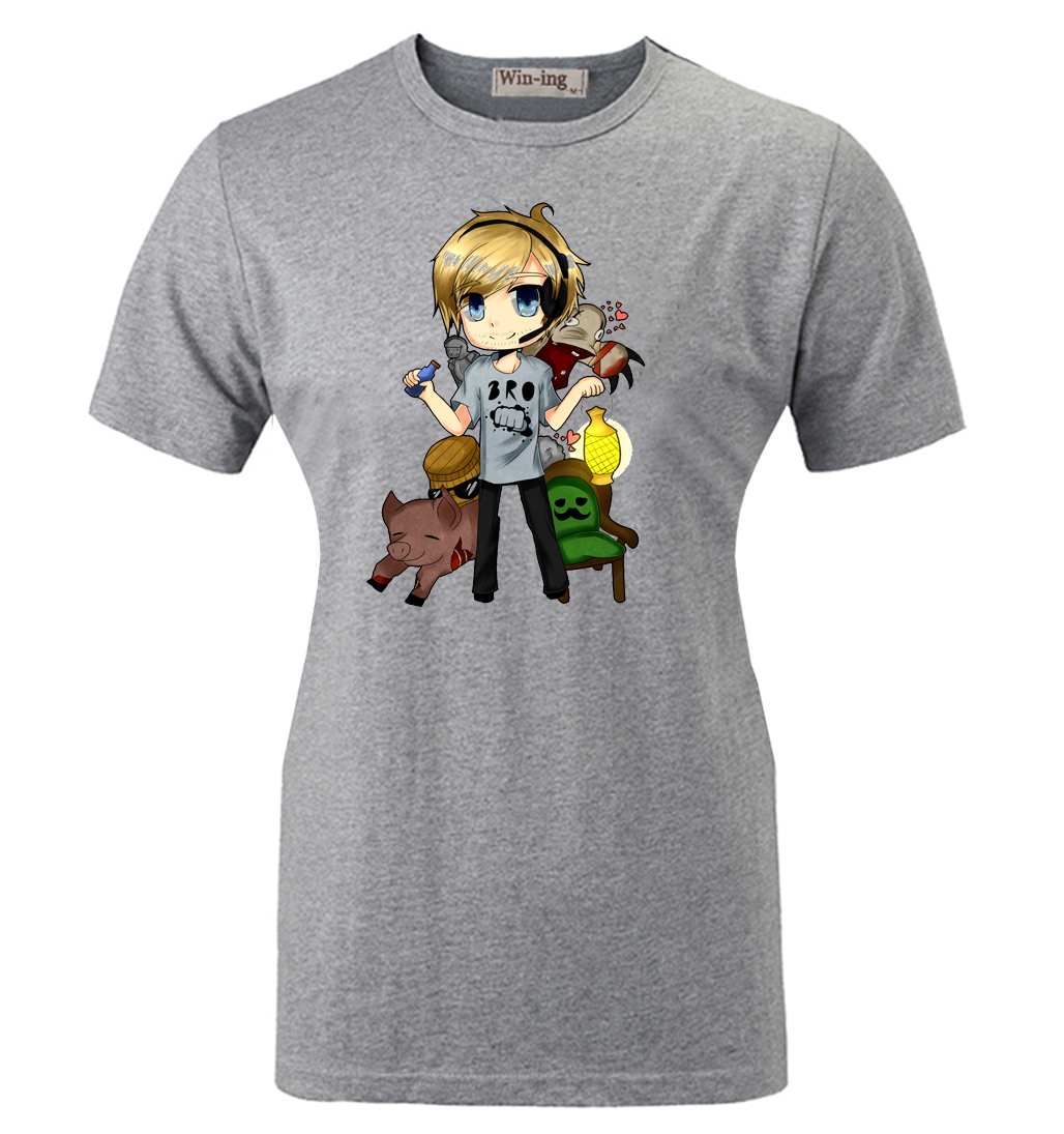 Summer casual cotton t shirt pewdiepie barrel kids for Graphic t shirts for kids