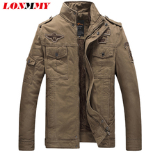 LONMMY Thick Wool liner cotton Male jacket men coats Air Force 1 Casual man winter jackets Men coats Army Military jackets L-6XL