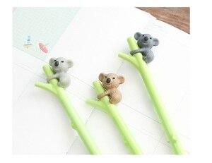 Image 3 - 35 pcs/Lot Cute koala bear gel ink pens for writing Cartoon Black pen 0.5mm Kawaii stationery Office School supplies FB719