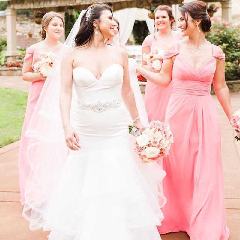 lamiabridal Off The Shoulder Chiffon   Bridesmaid     Dresses   Spaghetti Straps Pleats Full Length Wedding Guest Maid Of Honor Gowns