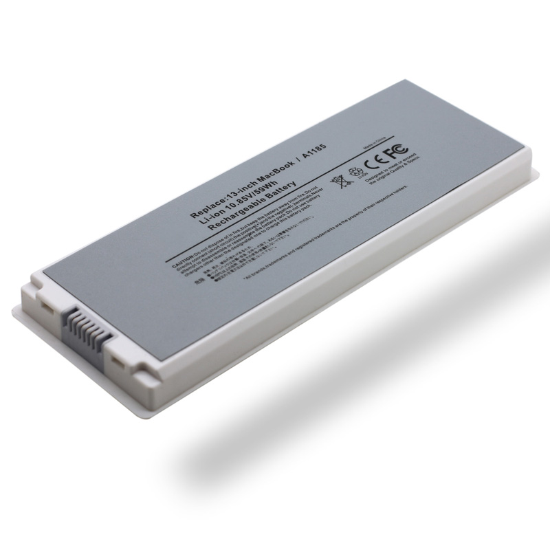 ФОТО Portable 10.85V 6 Cell Wholesale New Laptop Battery for Apple MacBook 13 Inch A1185 A1181 MA254 MA561 MA566 White