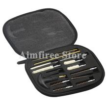 Pistol Gun Cleaning Tools Kit Cleaner Set Fits All Calibers Handguns 9mm Barrel Brushes with Portable Pouch 16pcs/set