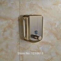 New Arrival Antique Bronze 800ML Soap Dispenser Liquid Shampoo Dispenser Single Head Manual Lotion Box Holder