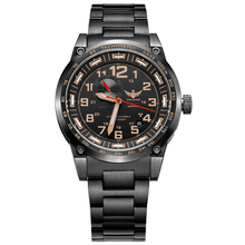 YELANG V1015 rosegold number tritium gas green luminous 4 hands men automatic mechanical business watch