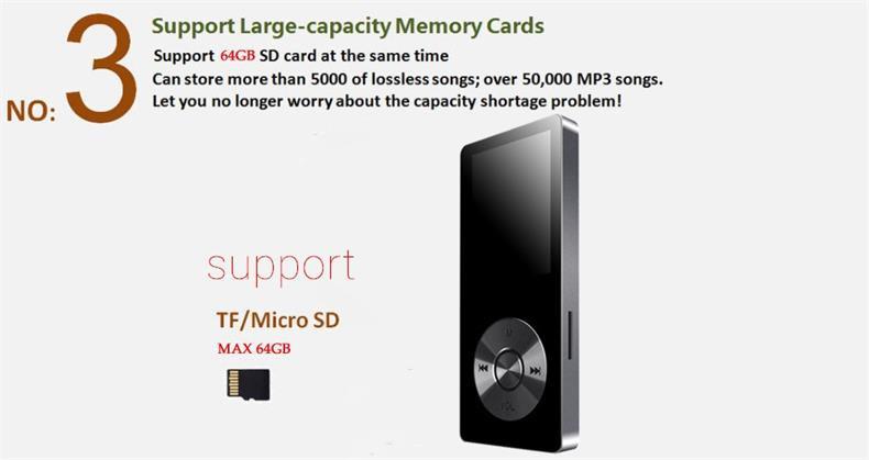 Купить 2016 Сплава Музыкальный Проигрыватель MP3 BENJIE K9 со Спикером 8 ГБ 60hrs высокое Качество Lossless Диктофон Fm-радио Поддержка 64 ГБ TF Карты