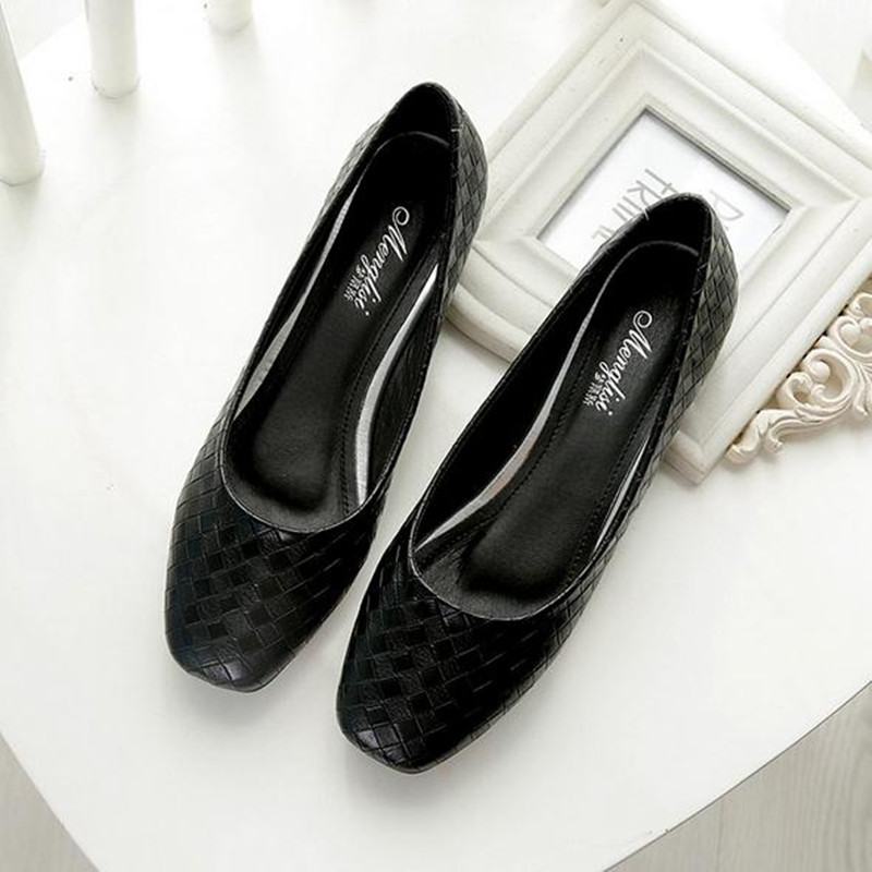 Plus Size 33-43 Women flat shoes fashion Black large size Slip-On casual shoes Female ballet flat heels zapatos mujer casual ballet leopard pattern non leather flat shoes women fashion boat shoes zapatos mujer tacon sapato flats large size 4 16
