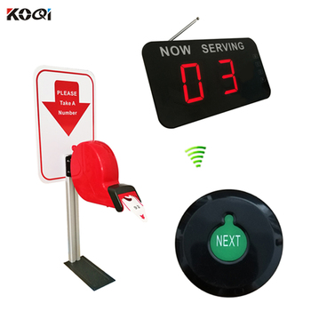 New Arrival 433.92mhz Wireless Led Queue Display Restaurant Service Number Waiting System