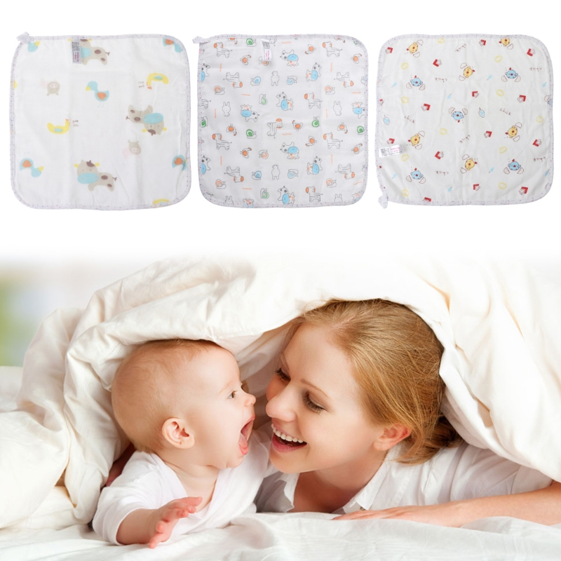 2018 Infant Baby Towel 30x30cm Cartoon Soft Wipe Food Washing Face Floral For Newborn Kids JUN29_17
