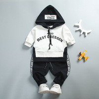 2017 Autumn Brand Cotton Clothes Sets Baby Girls Boys Sports Hooded T Shirt Sweatshirt Pants 2pcs
