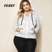 FGHGF Women Plus Size Bomber Jacket Short Coat 2017 Autumn Loose Long Sleeved Zipper Lace Up 3xl Casaco Feminino Jaqueta MB042