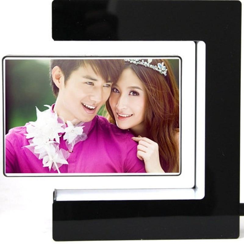photo frame magnetic levitation floating square photo framework led light novel nice giftchina