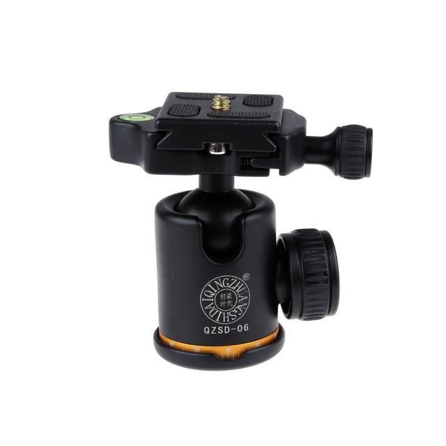 QZSD Q-06 360 Graus Girados Professional Panoramic Gimbal Tripod Bola Cabeça para Câmeras DSLR