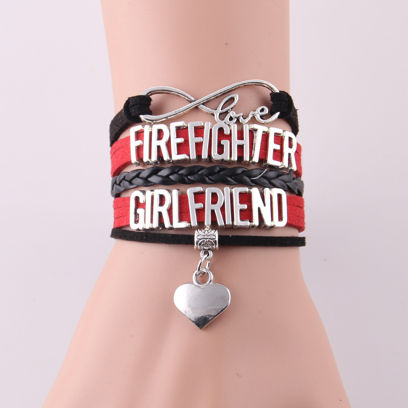 girlfriend firefighters on s and gifts pin firefighter proud girlfriends dog firefightersgirls pinterest etsy by necklace tag