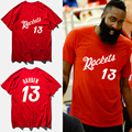 James harden basketbal jersey 2017 summer cotton red fashion t-shirt rocket #13 print t shirt men camisetas hombre,tx2422