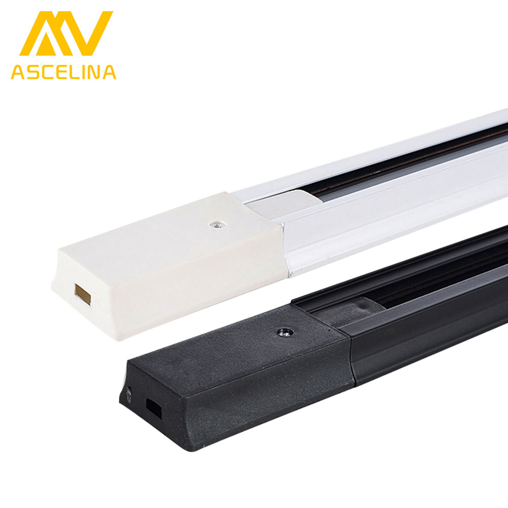 ASCELINA 1m LED Track For track Light Spotlight Rail light led Sliding rail for Clothing Stores/Exhibition halls 2-wire aluminum