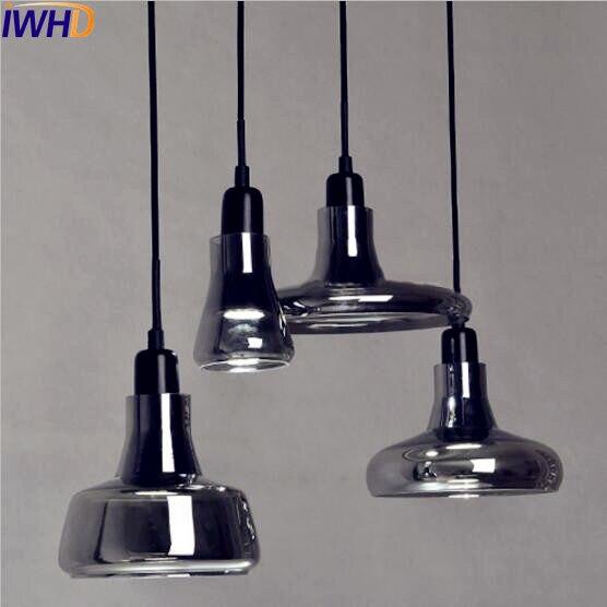 IWHD verre Loft Style industriel pendentif luminaires Bar café Edison rétro Vitnage lampe suspension Lampara Pendente Luminaire