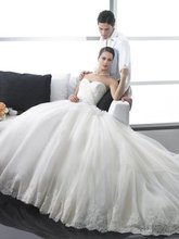 A-102 Free Shipping Tulle A-line Lace Flirty Wedding Dress 2012