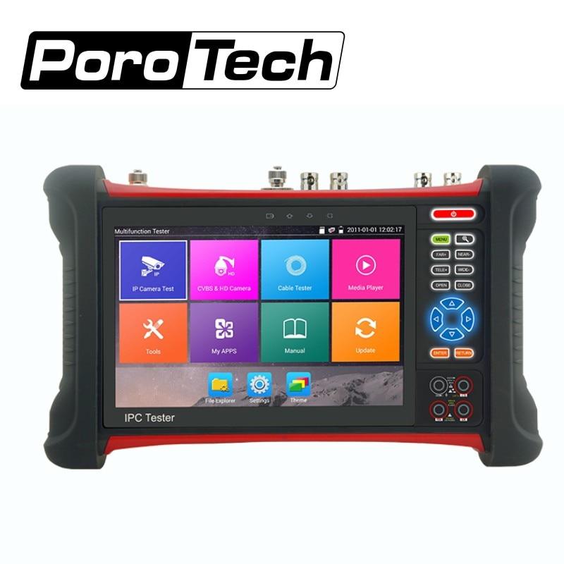 DHL livraison X7 IP caméra testeur H.265 4 k 8MP CVI TVI AHD SDI CVBS IP CCTV Testeur Moniteur avec TDR, câble traceur, Multimètre Numérique
