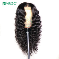Virgo Loose Wave Lace Front Human Hair Wigs For Black Women Pre Plucked With Baby Hair Remy Brazilian Lace Wig Wavy Full End