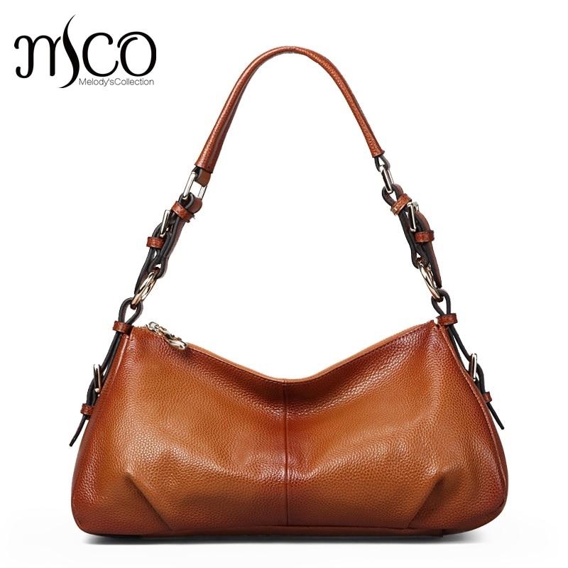 ФОТО women's handbags shoulder Bag ladies leather messenger bags female genuine leather Top-Handle Bags vintage bag Bolsa feminina
