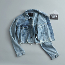 цена на Women's denim jacket coat 2019 autumn and winter wear denim jacket women Street short denim