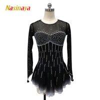 Nasinaya Figure Skating Dress Customized Competition Ice Skating Skirt for Girl Women Kids Patinaje Gymnastics Performance 115