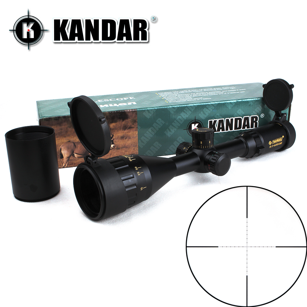 KANDAR Gold Edition 3-9x50 AOME Glass Etched Mil-dot Reticle Locking RifleScope Hunting Rifle Scope Tactical Optical Sight kandar 6 18x56q front tactical riflescope big objective with glass plate riflescope military equipment for hunting scopes