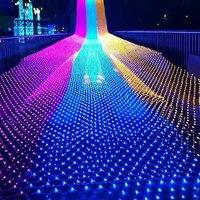 Thrisdar 10X8 м 2000 Рождественский светодиодный сетка Фея Строка света Открытый Свадебная вечеринка сад дерево Обёрточная бумага коммерческих св