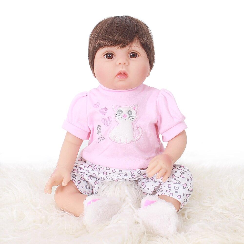 Otardpoupées bébé Reborn poupée dernière nouvelle Silicone Boneca Adorable menina belle 20 pouces 50 cm doux vinyle surprise cadeau enfants
