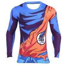 Mannen Classic Anime Dragon Ball Z Super Saiyan Goku Vegeta 3d t shirt Strakke Korte