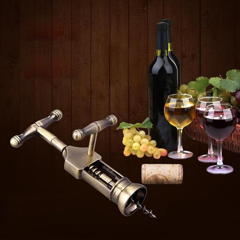 HOT Zinc Alloy Wine Opener Rotary Lever Retro Bottle Corkscrew Openers Cork Champagne Opener TI99
