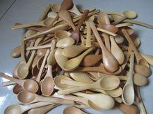 100 Pieces Small Wooden Coffee Tea Spoon 12.5cm Sugar Salt Jam Mustard Ice Cream Spoons Handmade Utensils Free Shipping