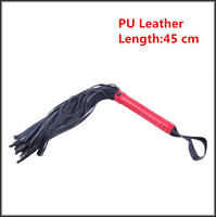 New 45 CM Soft PU Leather Whips In Adult Games For Couples,BDSM Fetish Sex Products Toys For Women And Men - DS01