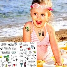 M-theory Child Temporary Body Art Aloha Hawaii Holiday Flash Tattoo Sticker 17x10cm Waterproof Christmas Gift