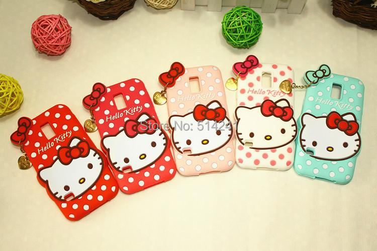 Cartoon Silicone Mobile Phone Shell Cute Hello Kitty Samsung Galaxy S5 mini Back Cover Case - Easy-life club store